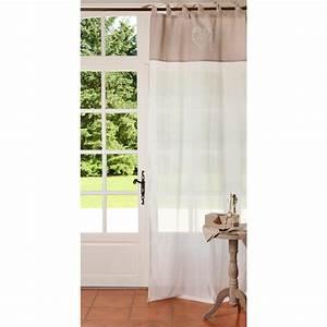 rideau a nouettes en coton beige 105 x 250 cm camille With maison du monde rideau