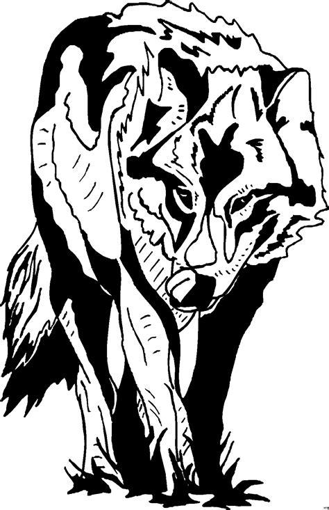 wolf von vorne ausmalbild malvorlage tiere