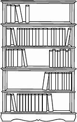Bookshelf Mobili Disegni Coloring Dibujos Colorear Colorir Shelf Library Clip Escolares Bibliotecas Desenho Desenhos Livraria Bw Template Disegno Cliparts Sketch sketch template