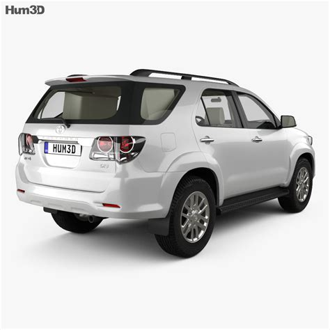 Toyota Fortuner with HQ interior 2013 3D model - Vehicles ...