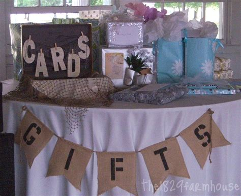 rusticvintage gift table edible wedding favors baby