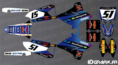 kit decoration justin barcia edition yamaha yz yzf 125 250 450