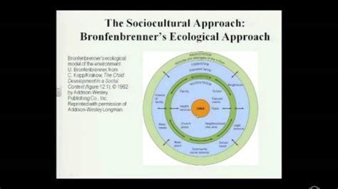 The Sociocultural Approach - Bronfenbrenner's Ecological
