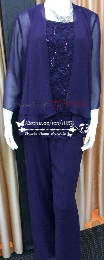 size royal blue chiffon  lace mother   bride pant suit nmo