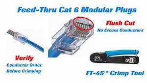 Cat 5 Cat 6 : ideal cat 6 feed thru modular plugs short youtube ~ Eleganceandgraceweddings.com Haus und Dekorationen
