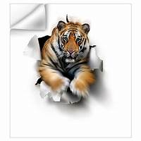 great tiger wall decals Tiger, artwork Wall Decal