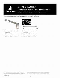 Jennair Jdtss247hs Lustre Stainless 24 U0026quot  Trifecta Pocket