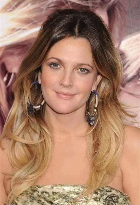 Ombre Hair Blended Blonde Dip Dye On Smooth Waves Drew