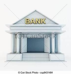 Dibujos de 3d, banco, icono Bank, 3d, icono, aislado, blanco csp8431484 Buscar Clipart de