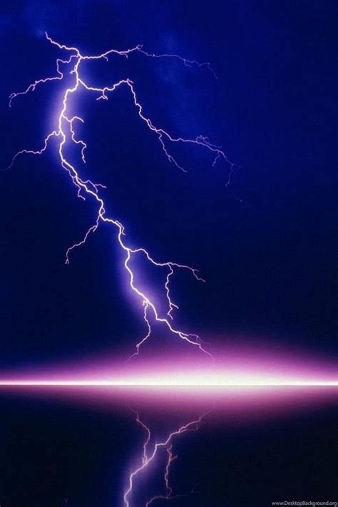 beautiful purple lightning lake iphone hd wallpaper jpg