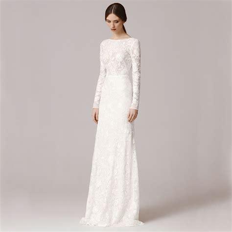 long sleeve sheath wedding dress luxury brides