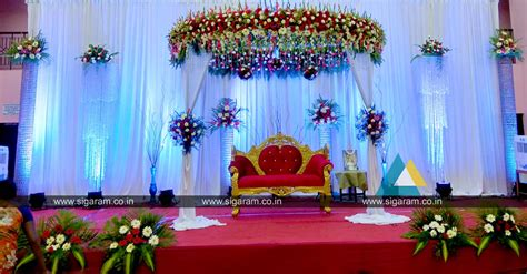reception reception stage decoration at kandhan thirumana