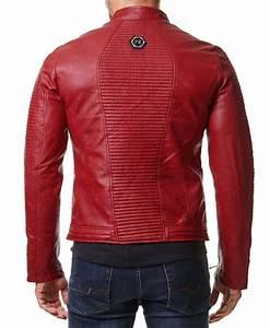 Veste En Cuir Rouge Homme : blouson homme biker blouson biker simili cuir homme brun photo color ~ Melissatoandfro.com Idées de Décoration