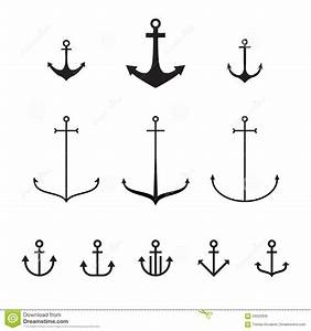 Set Of Anchors, Modern Simple Design, Line Design Stock ...