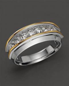 men39s 14k two tone and diamond wedding band bloomingdale39s With bloomingdales wedding rings