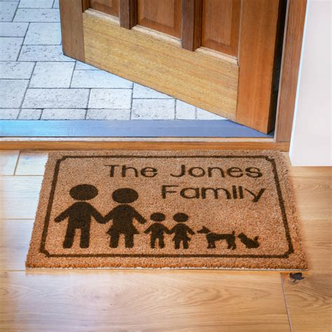 Design A Doormat by Personalised Family Doormat By Laser Made Designs