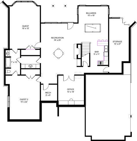 house floor plans with basement unique free house plans with basements 9 ranch house