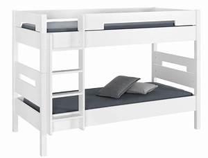 lit superpose blanc aves deux matelas With stickers chambre enfant avec matelas envoutant dunlopillo