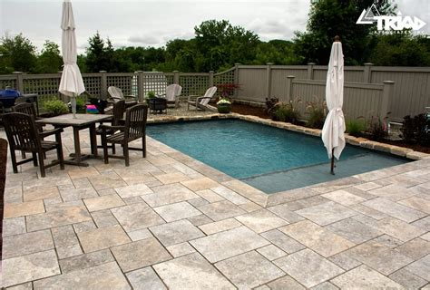 Travertine Paver Pool Deck Design And Cost
