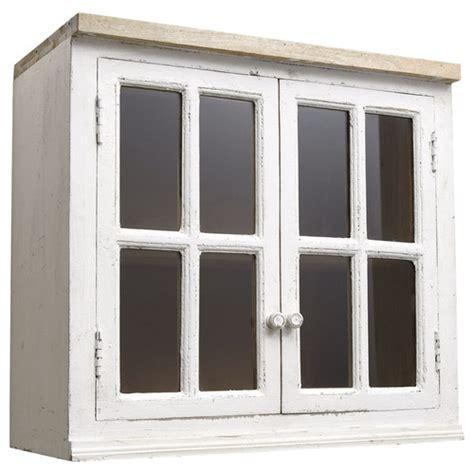 meuble haut cuisine bois meuble haut vitré de cuisine en manguier ivoire l 70 cm