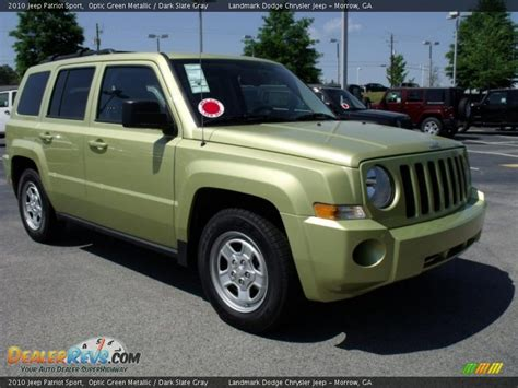 dark green jeep patriot 2010 jeep patriot sport optic green metallic dark slate