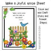 creation crafts day 5 550 | bird sing fence activity sheet sm