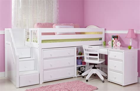 Girls Loft Bed with Desk: Design Ideas and Benefits   HomesFeed
