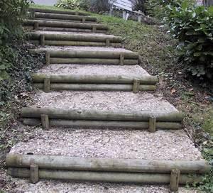 Hauteur Marche Escalier Extérieur : ma onnerie paysag re jardin en pente sloping garden pinterest ma onnerie escaliers et ~ Farleysfitness.com Idées de Décoration