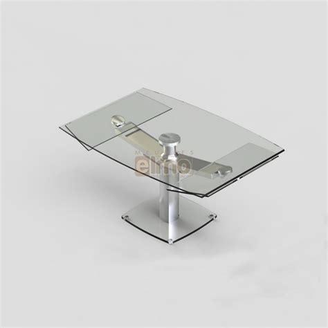 extensible de cuisine table repas moderne extensible pied acier verre