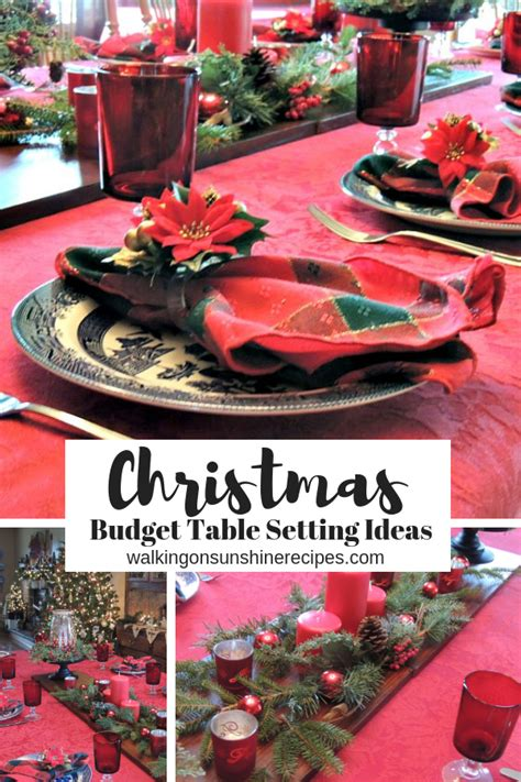 budget christmas table decorations home  lifestyle