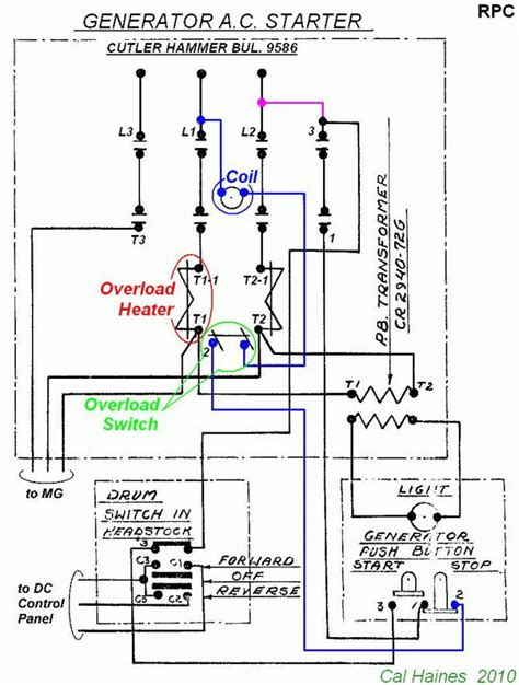 10ee mg starter circuit with cutler hammer contactor revised