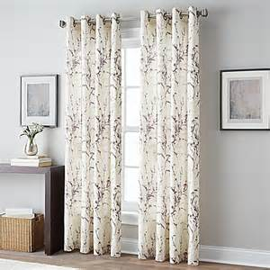 botanical grommet top window curtain panel bed bath beyond