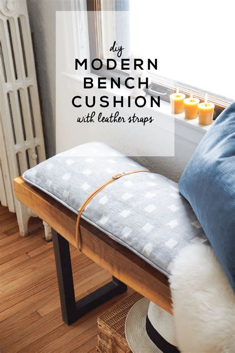 Bench Cushions Diy by Diy Modern Bench Cushion With Leather Straps Francois Et Moi