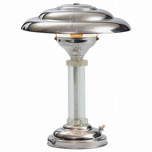 art deco table lamp at 1stdibs With 4 light chandelier table lamp