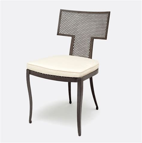 outdoor hadley metal mesh side chair mecox gardens