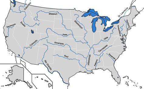 Filemap Of Major Rivers In Uspng
