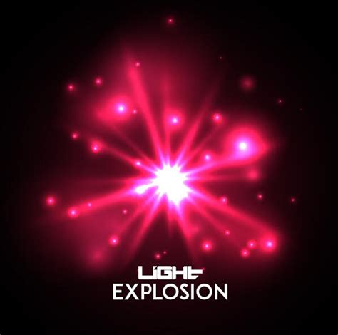 light explosion effect background vector 06 free download