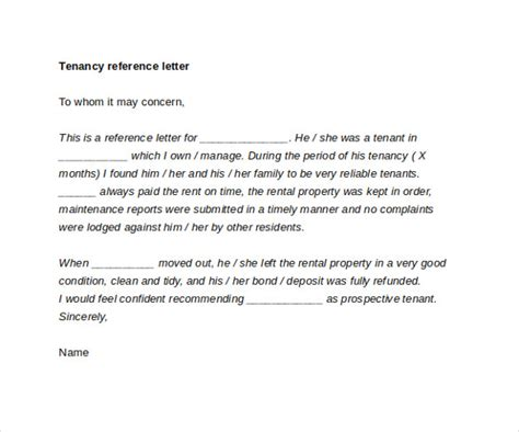 letter of recommendation for tenant 8 sle tenant reference letters sle templates 29369