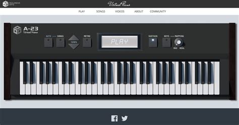 virtual piano the best online piano keyboard with songs