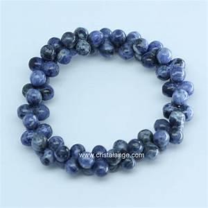 Pierres Précieuses Bleues : bracelet sodalite forme 8 chez ~ Nature-et-papiers.com Idées de Décoration