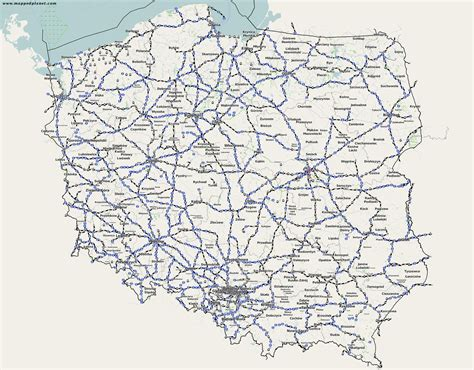 Country maps Poland