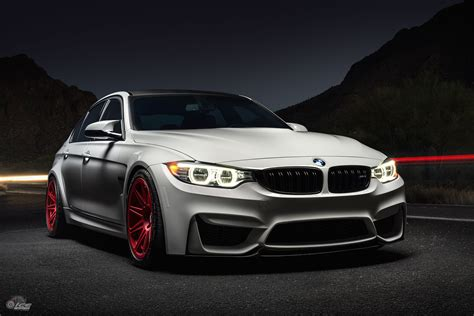 Alpine White Bmw M3 With Hre Rs101m In Frozen Red