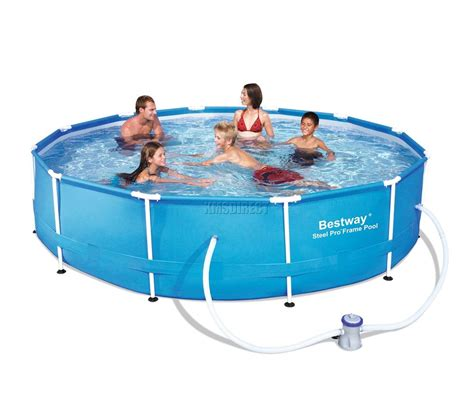 frame pool bestway bestway steel pro frame swimming pool set above ground 12ft x 30inch new ebay