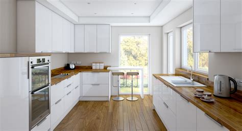 glossy white kitchen cabinets charming and classy wooden kitchen countertops white