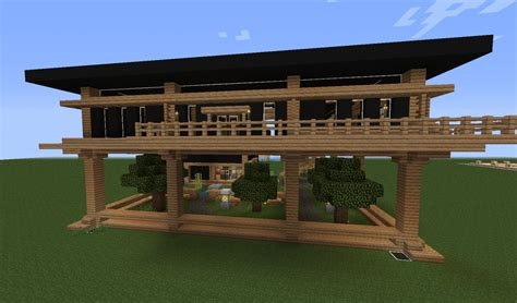 Minecraft Living Room Designs by Elevated Modern Home With Garden Minecraft Project