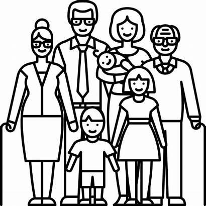 Icon Familia Icons Transparent Numerosa Iconos Familie