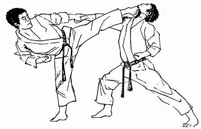 Karate Clipart Defense Self Martial Poses Arts