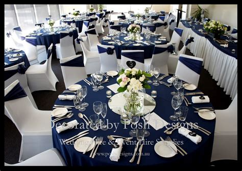 navy blue and white wedding decorations for hire andrea