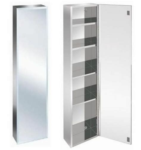 Stainless Steel Mirrored Bathroom Cabinet by Zanex Luxury Stainless Steel Bevelled Edge 1200mm