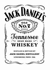 Jack Daniels Transparent Logos sketch template